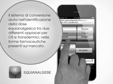 Video presentation for the application Equianalgesie equivalences in analgesia